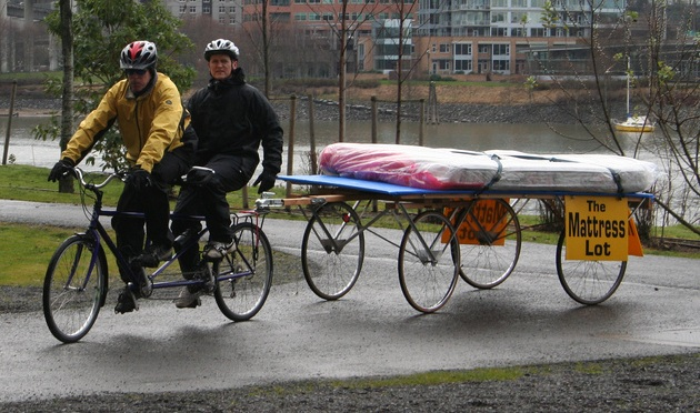 Mattress On A Bike