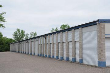 Outdoor drive-up units at Acorn Mini Storage Blaine