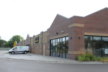 Outdoor front entrance to Acorn Mini Storage facility