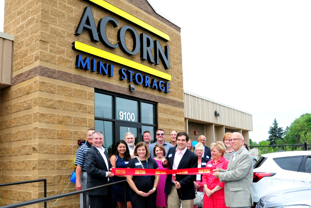 Ribbon Cutting Ceremony Outside Acorn Bloomington