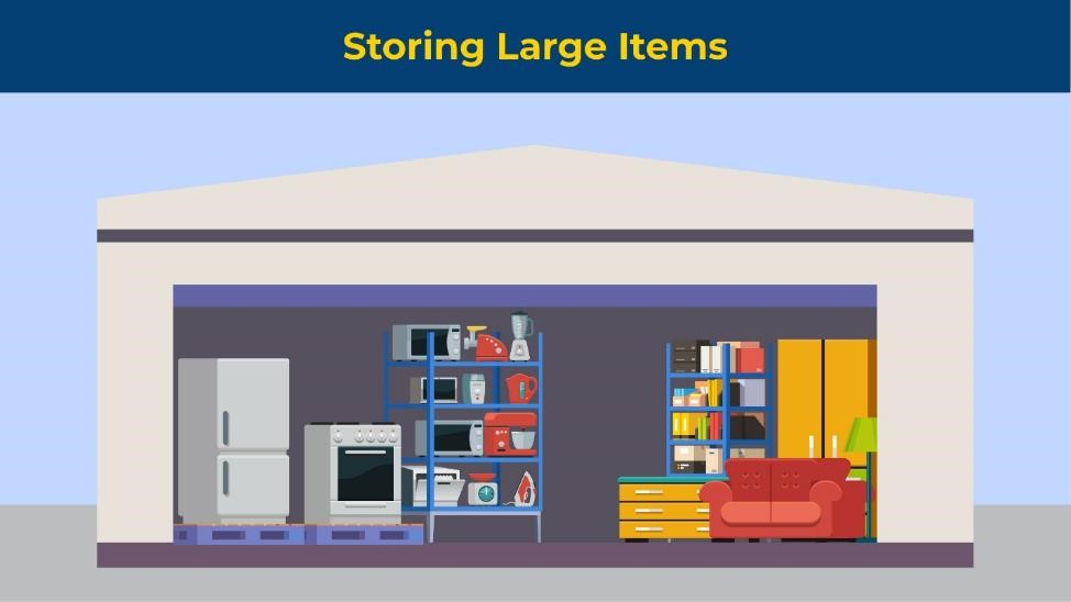 storing large items in your storage unit