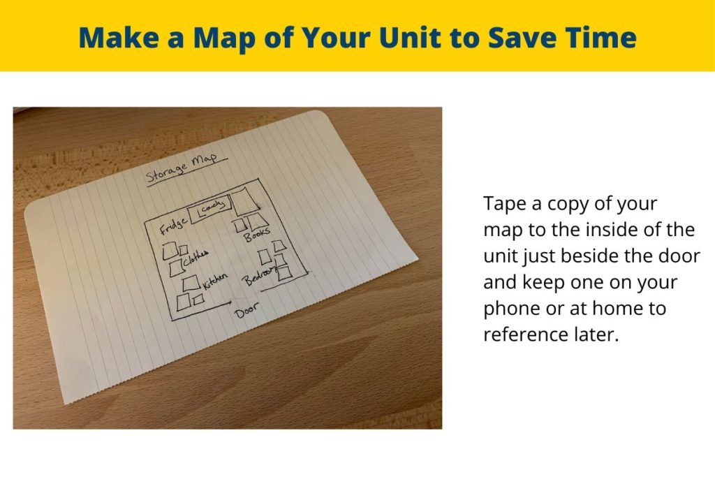 Make a map of your storage unit to save time